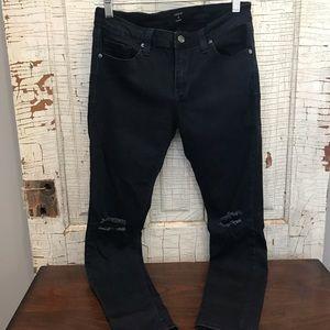 Dark, skinny jeans